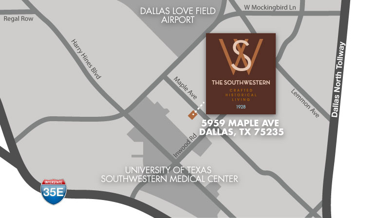 The Southwestern Apartments Location Map